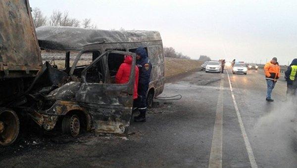 ДТП в Ростовской области, в котором погибли шесть украинцев. 21 ноября 2016 года