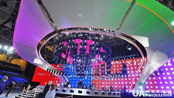 ВКиеве окончено  возведение основной  сцены Евровидения