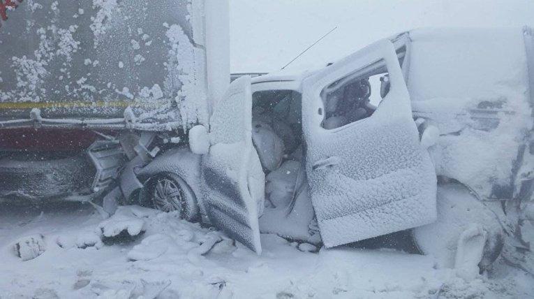 В Татрах столкнулись десятки автомобилей