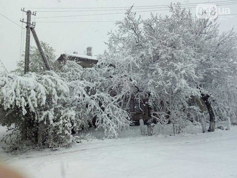 Снег в Одессе
