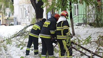 Снегопад в Молдавии