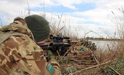 Антитеррористические учения украинских пограничников под Херсоном
