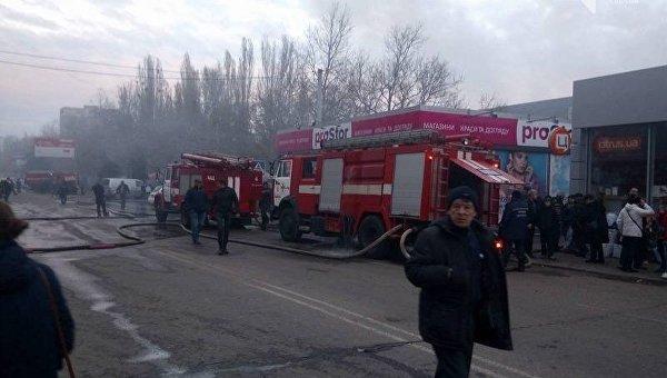 ГСЧС: Пожар нарынке вОдессе потушен