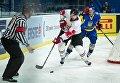 Встреча сборных Украины и Венгрии на чемпионате мира по хоккею в Киеве