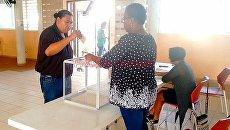 Голосование на президенстких выборах во Французской Гвиане