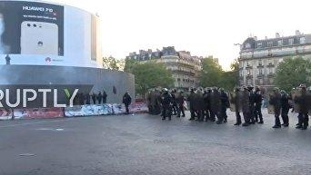 Столкновения с полицией на площади Бастилии
