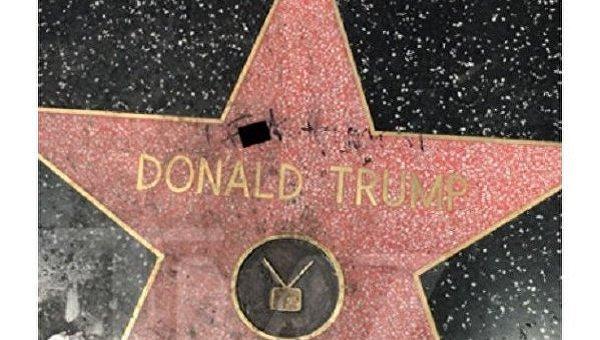 Наголливудской Аллее славы осквернили звезду Трампа