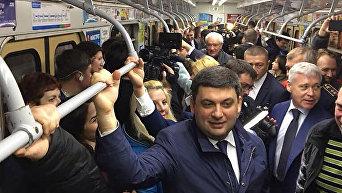 Владимир Гройсман в Харьковском метро