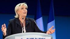 Лидер политической партии Франции Национальный фронт, кандидат в президенты Франции Марин Ле Пен