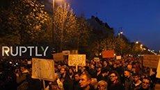Протесты в Венгрии против российского вмешательства. Видео