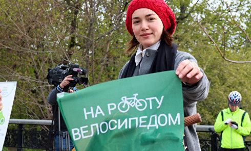 В Киеве прошла акция Велосипедом на работу