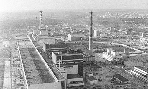 Панорама Чернобыльской АЭС