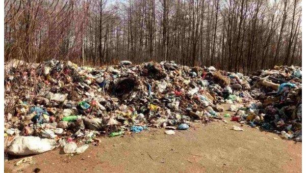 Мусор из Львова обнажили в Чернобыльской зоне вблизи покинутых населенных  пунктов bf42fec857db2