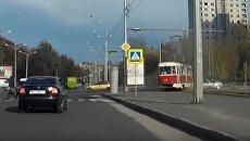 Дрифт трамвая в Харькове