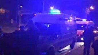Стрельба в Подольском районе Киева. Видео