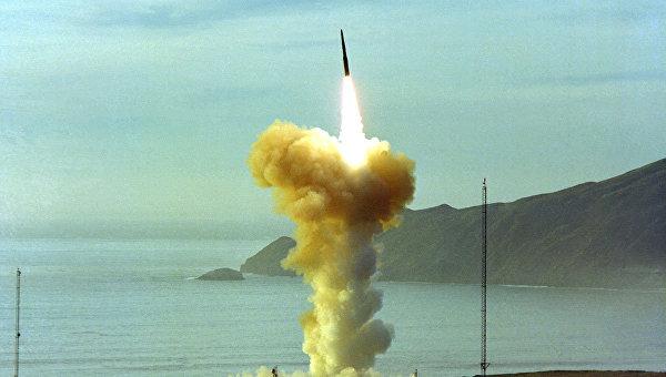 Испытания межконтинентальной баллистической ракеты Minuteman III. Архивное фото