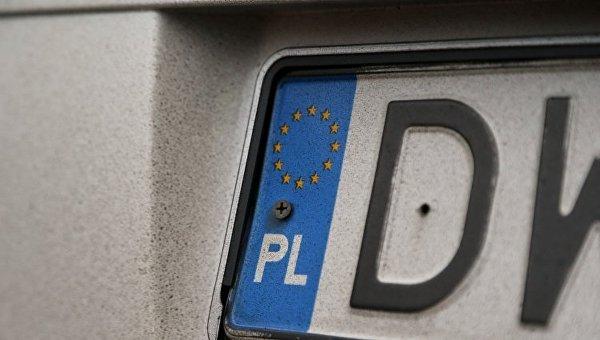 Автомобильный номер с иностранной регистрацией