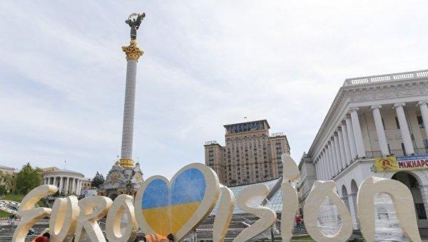 В Киеве установили логотип Евровидения