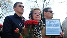 Траурный митинг в память о ликвидаторах аварии на ЧАЭС