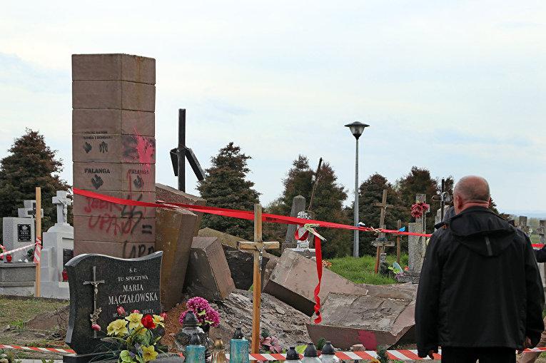 ВМИД назвали провокацией демонтаж монумента солдатам УПА около Перемышля