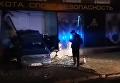 В Одессе иномарка влетела в оружейный магазин. Видео