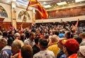Захват демонстрантами парламента в Македоднии