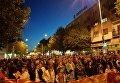 Митинг перед парламентом Македонии, закончившийся его захватом