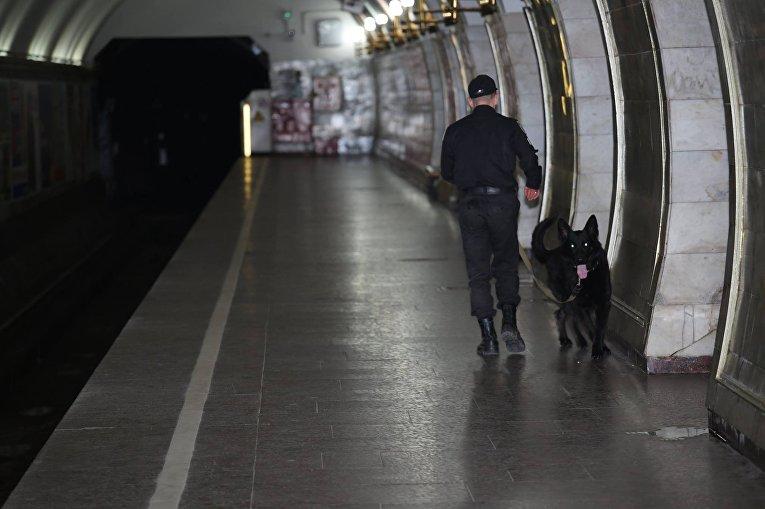 Учения в метрополитене по обеспечению безопасности во время Евровидения-2017