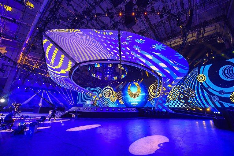 Подготовка к проведению Евровидения в Международном выставочном центре в Киеве