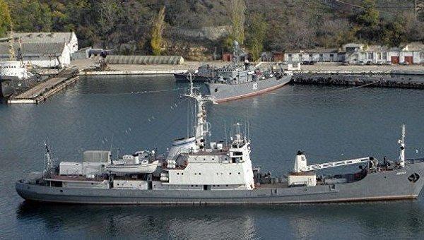 Российский разведывательный корабль Лиман