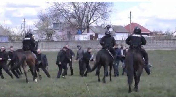 Конная полиция в Днепре