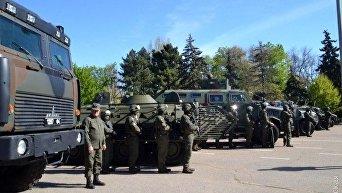 Смотр спецназа полиции и Нацгвардии в Одессе