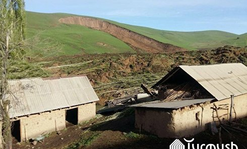 Оползень в Киргизии