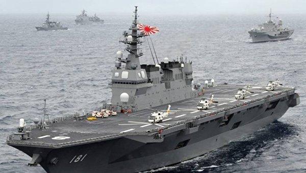 Японские Силы самообороны впервый раз направились охранять корабли ВМС США