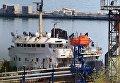Танкер Граф под флагом РФ в Одесском порту