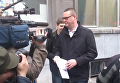 Один из лидеров Партии труда Бельгии Рауль Хедебау после атаки неизвестного