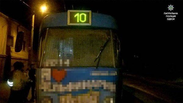 В одесском трамвае подрались пассажиры