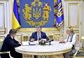 Совещание Петра Порошенко с главой Минфина Данилюком и главой Нацбанка Гонтаревой