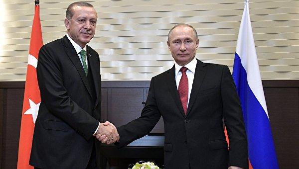 Встреча президента РФ Владимира Путина с президентом Турции Реджепом Эрдоганом