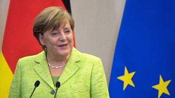 Федеральный канцлер ФРГ Ангела Меркель в ходе визита в РФ