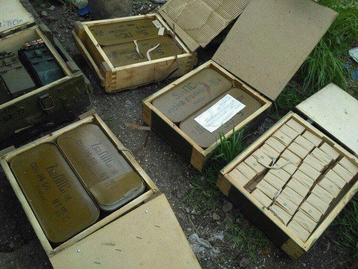 СБУ отыскала вКиеве тайник сгранатометами