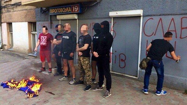 ВОдессе раскрасили приемную депутата отОппоблока