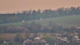 Видео взрыва автомобиля ОБСЕ в Донбассе