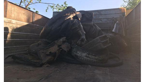 Украденный в Нежине памятник Марку Бернесу