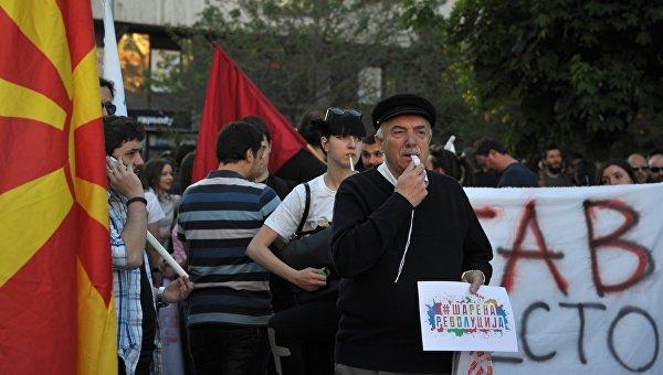 Акции протеста в Македонии. Архивное фото