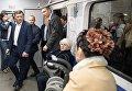 Открытие после реконструкции станции метро Левобережная в Киеве