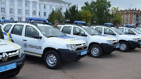 Сотрудники полиции в Луганской области