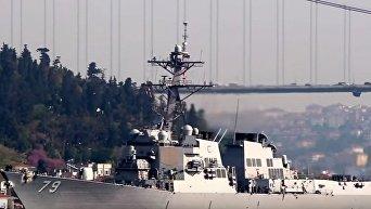 Американский ракетный эсминец Oscar Austin зашел в акваторию Черного моря
