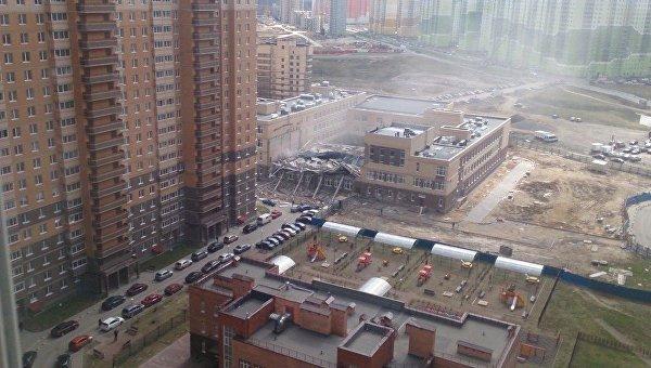 Названа вероятная  причина обрушения кровли школы под Петербургом