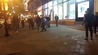 Видео с места массовой драки на Дерибасовской в Одессе
